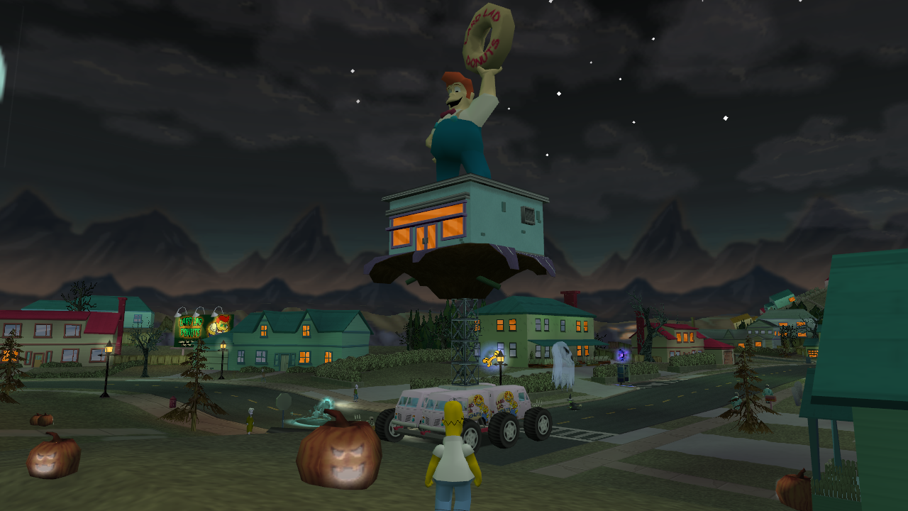 Lard Tooth parked on Evergreen Terrace in Level 7.