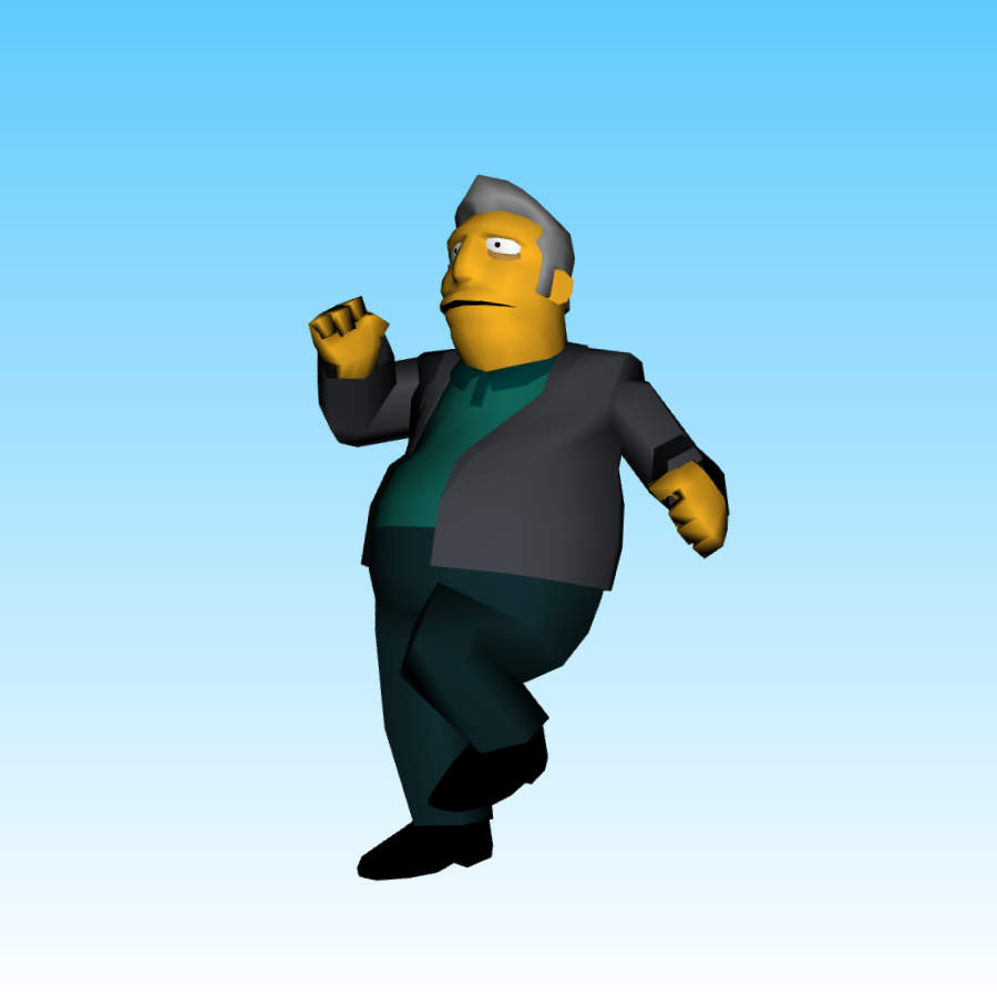Fat Tony but he's slightly diagonal but not so much that you'd notice!