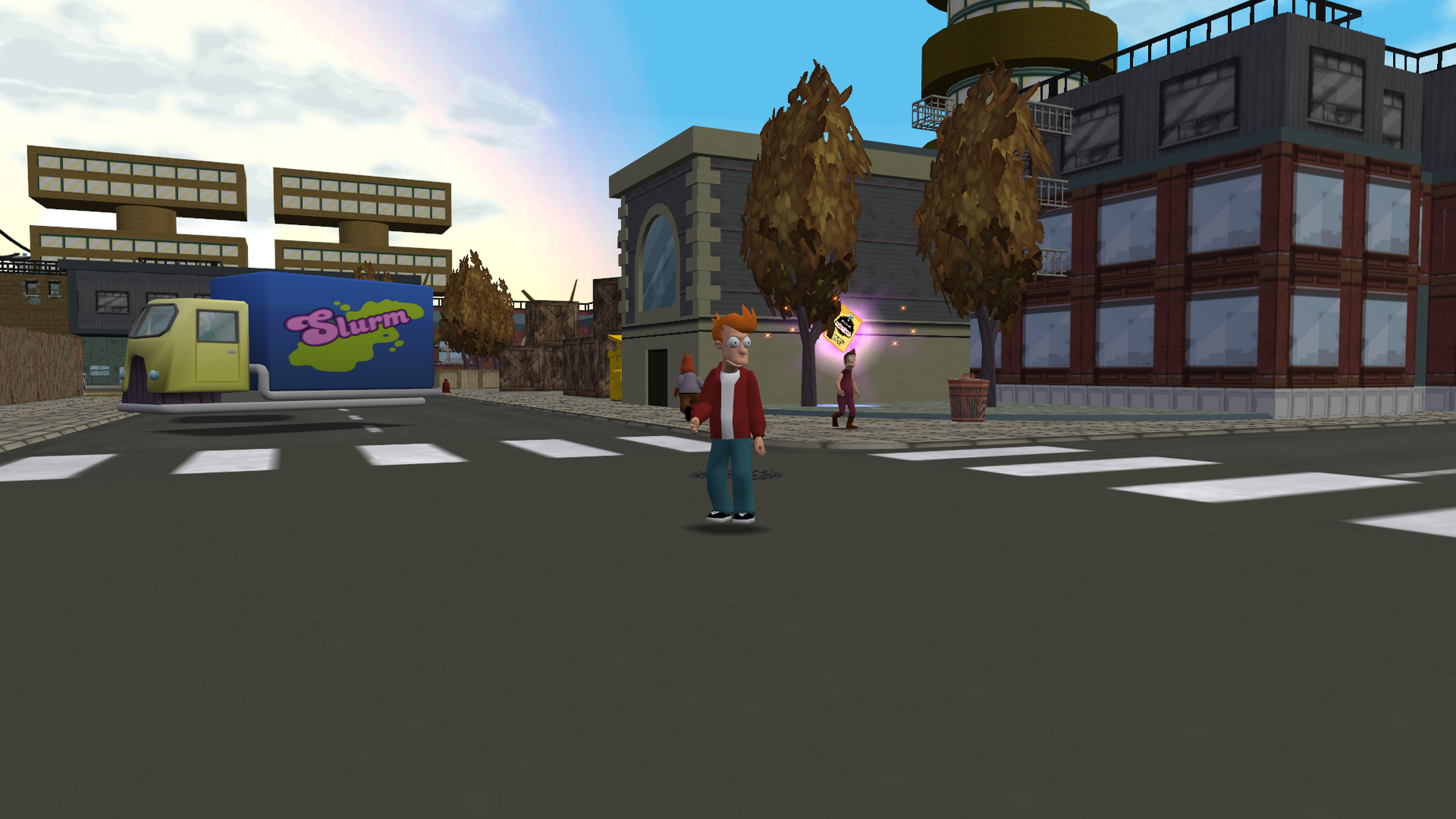 Fry standing in the New New York City streets.
